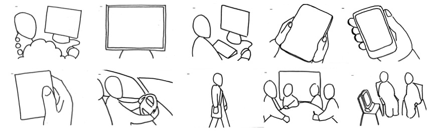Thumbnails Of The 10 Images In Template File