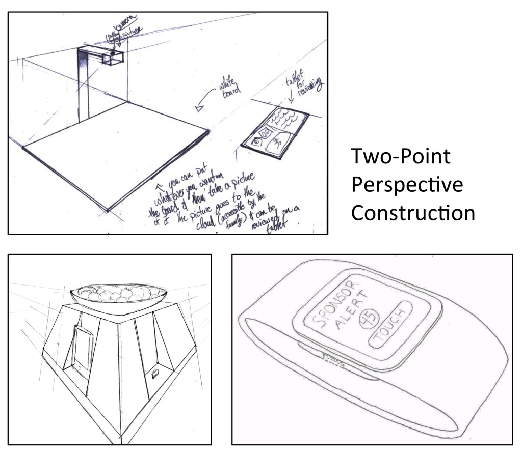 Many students were very successful in constructing two-point perspective sketches, even if they were resistant to less structured sketching approaches.